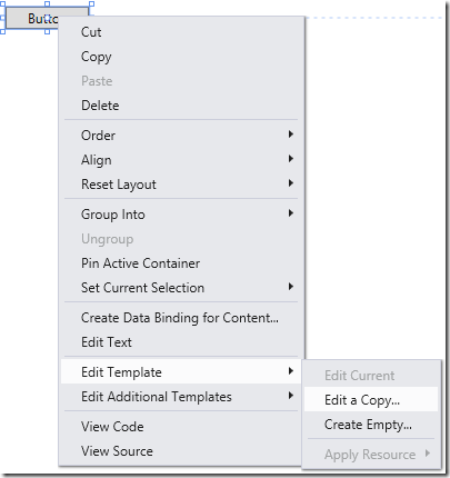 Getting The Default Wpf Control Templates In Visual Studio 2012